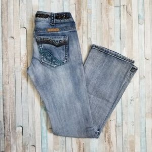 Cowgirl Tuff Vintage Studded Bootcut Jeans